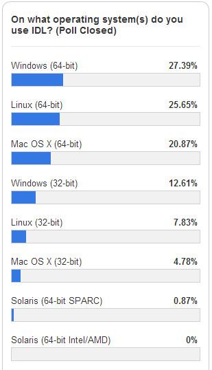 어떤 OS에서 IDL을 사용하세요?