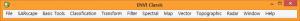 ENVI Classic의 가로 방향 메뉴