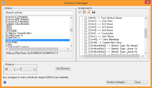 how to open file envi