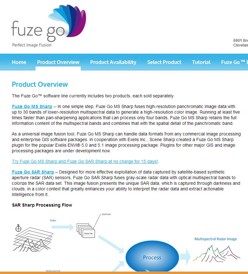 Fuze Go 소프트웨어 홈페이지.