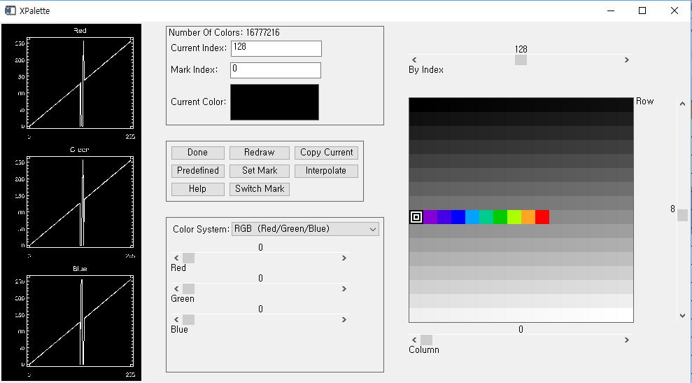 xloadct, 23, ncolors=10, bottom=128
